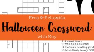 Free & Printable Halloween Crossword Puzzle with Key