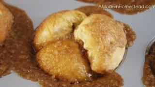 Pumpkin Butter Pull Apart Muffins with Crunchy Caramel Glaze