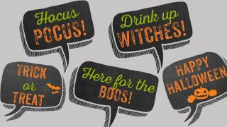 Free Printable Halloween Photo Booth Props