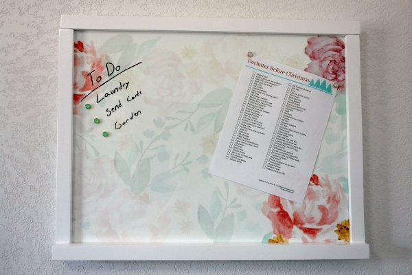 Erin Condren wall organization center with watercolor bloom insert