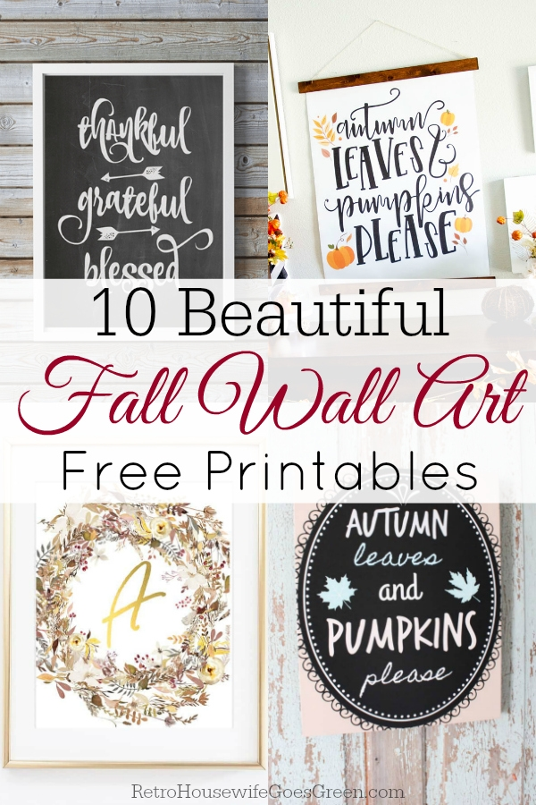 collage for free printable fall wall art