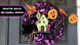 Haunted House Halloween Wreath