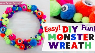 Easy and Fun Monster Wreath DIY