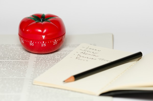 Pomodoro (tomato) timer and to-do list