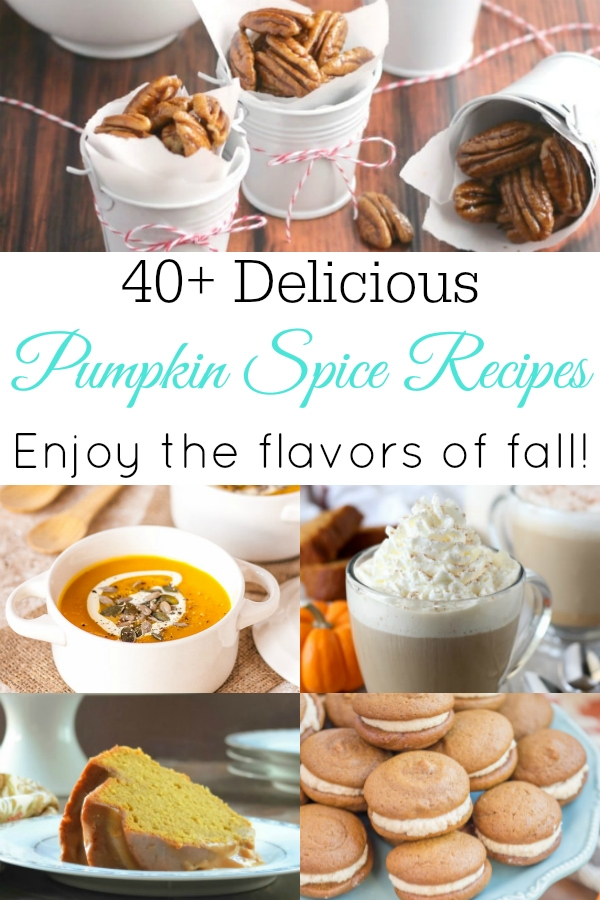 collage of pumpkin spice recipes