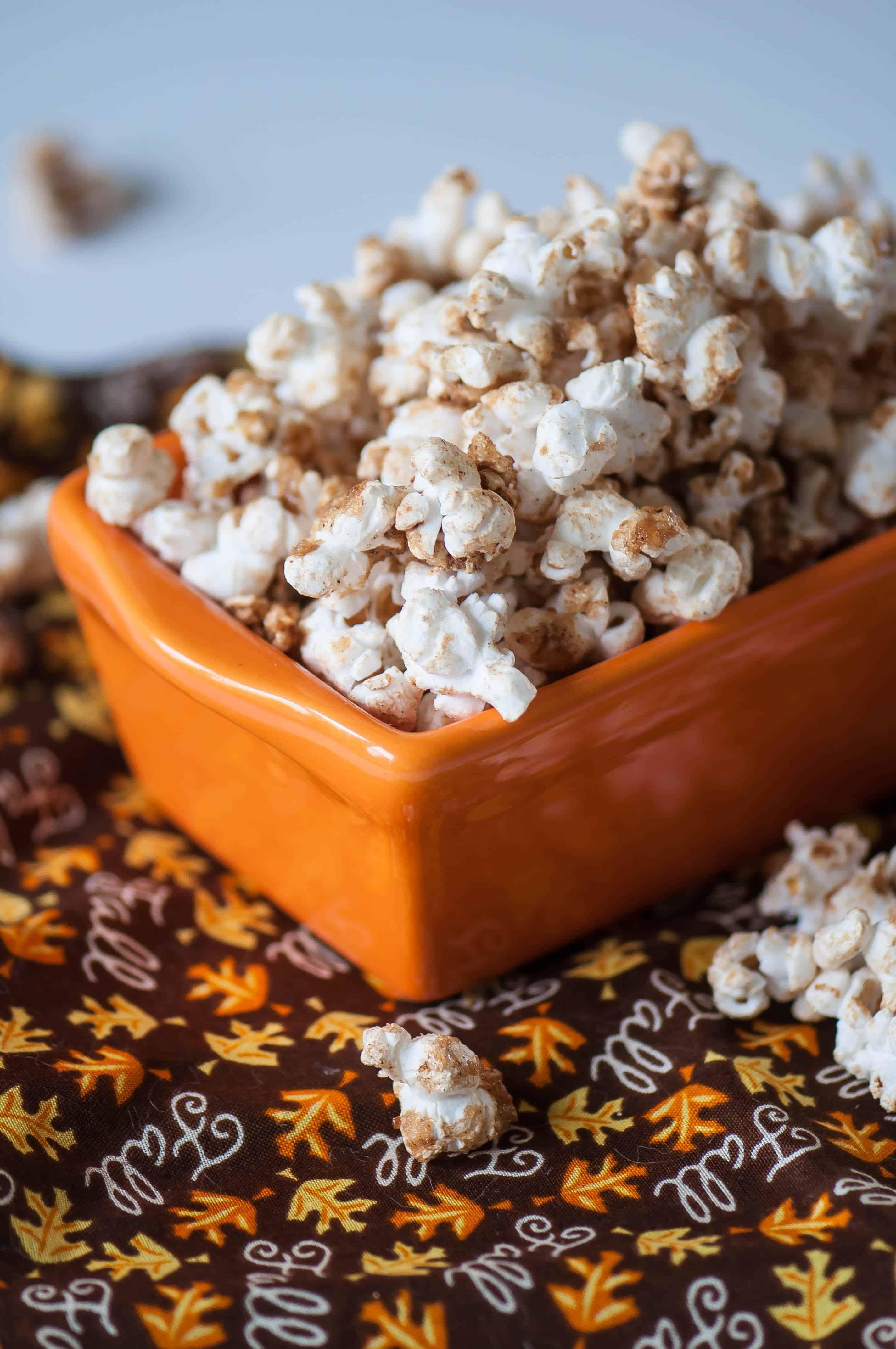 Brown Sugar Pumpkin Spice Popcorn