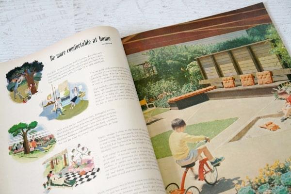 open vintage magazine