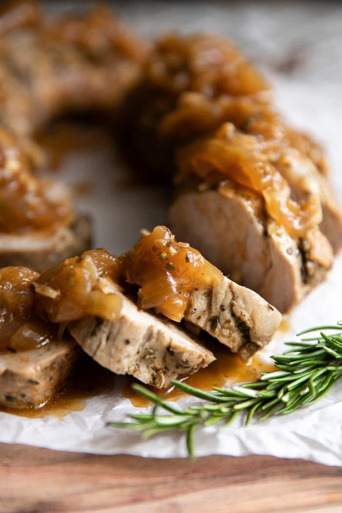 Easy Apple Balsamic Instant Pot Pork Tenderloin