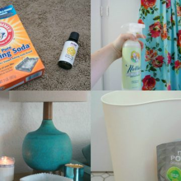 cleaning hacks collage