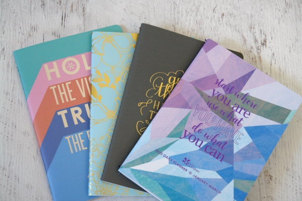 Erin Condren Petite Planners on table