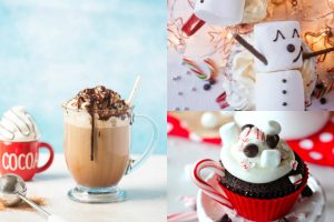 collage of hot chocolate recipes