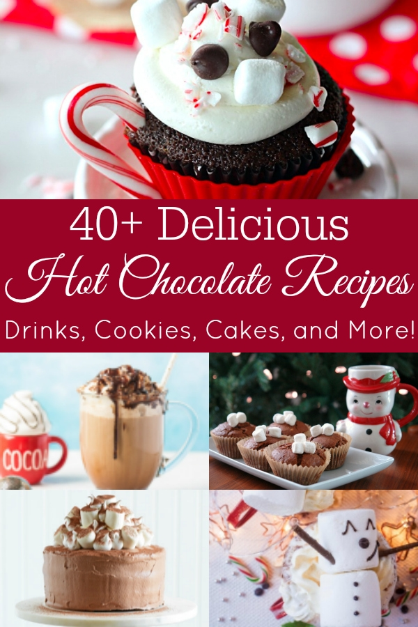 collage of hot chocolate dishes