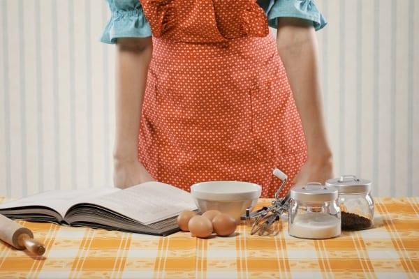 housewife preparing food