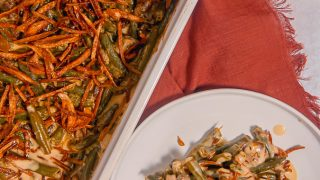 Fresh Green Bean Casserole with Fried Shallots