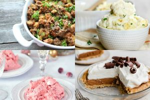 collage of thanksgiving dishes