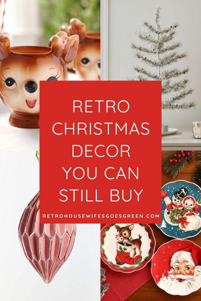 collage of retro christmas decor
