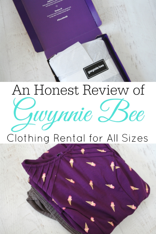 collage with Gwynnie Bee clothes and box