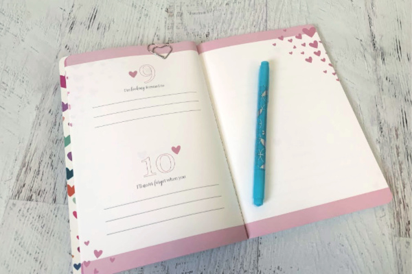 open Share the Love Erin Condren journal