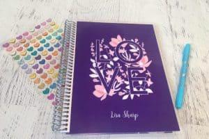 Erin Condren notebook with Love cover