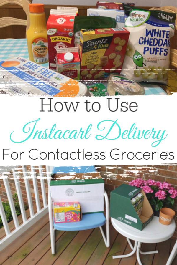 collage of groceries from Instacart