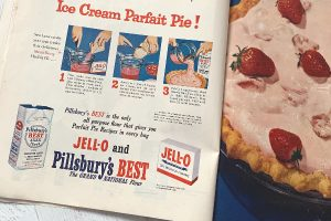 Jell-O ad in a 1950s Ladies Home Journal