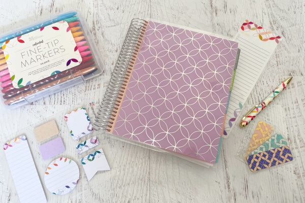 Erin Condren LifePlanner with accessories