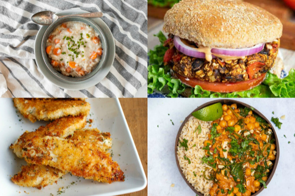 collage of frugal meals