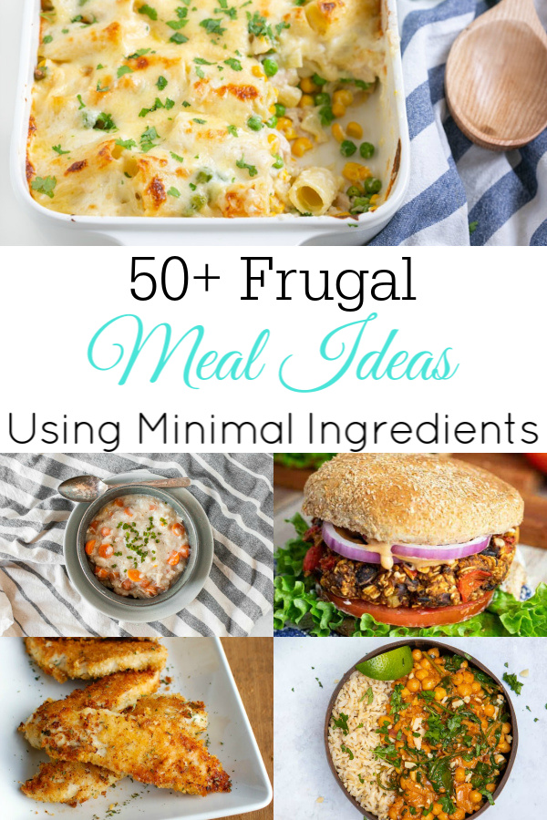 collage of frugal meal ideas