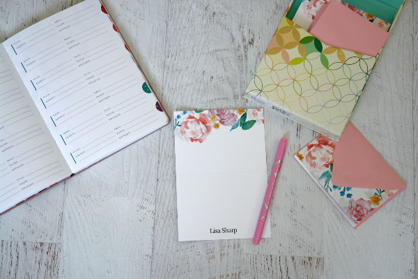 letter writing supplies on white table