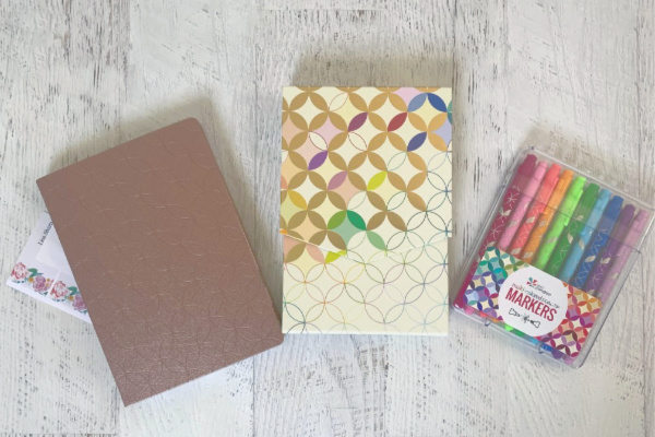 Erin Condren letter writing supplies on desk