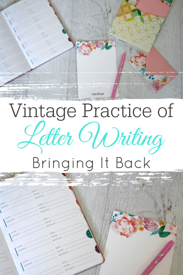 collage with letter writing supplies from Erin Condren
