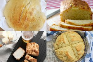 collage of loaves of bread