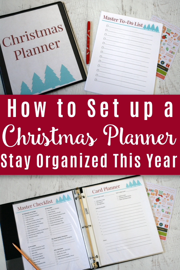 picture of Christmas planner on desk