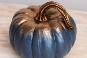 blue and gold pumpkin