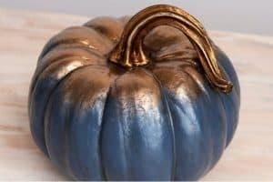 blue and gold pumpkin