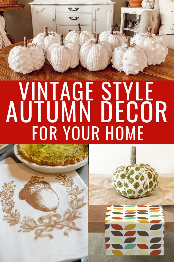 vintage fall decor collage