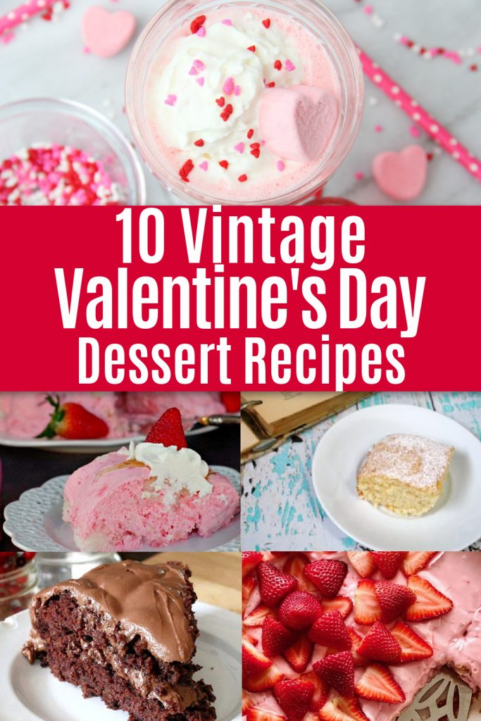 collage of vintage dessert recipes