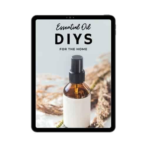 essential oil diy ebook on tablet