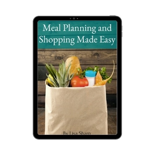 meal planning ebook on tablet