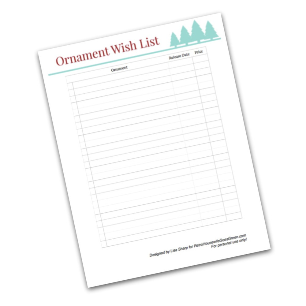 ornament wish list printable preview