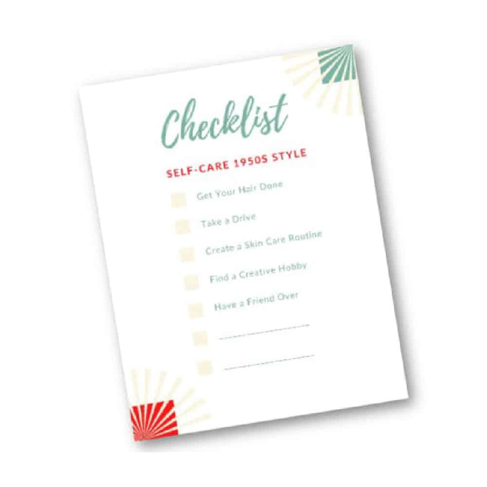 self-care checklist preview