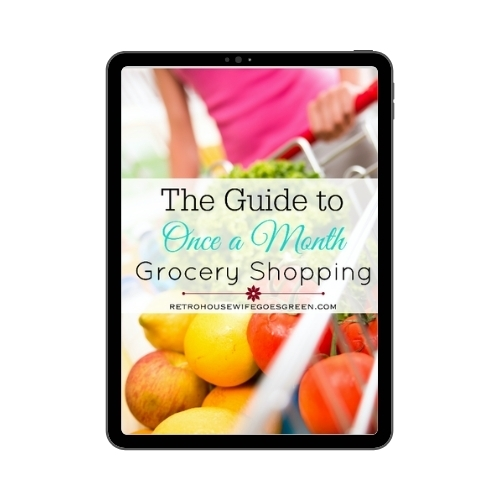 once a month grocery shopping ebook on tablet