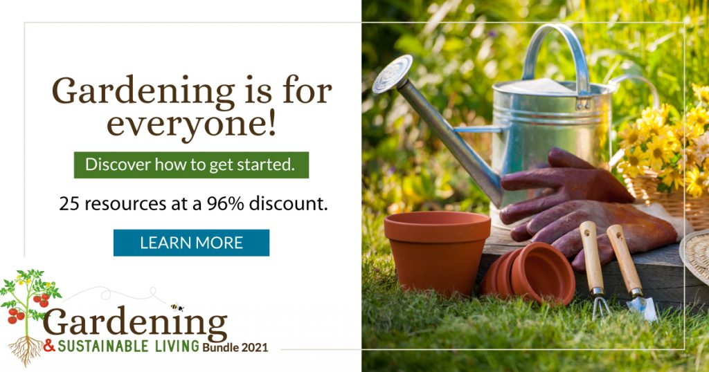 gardening and sustainability bundle banner