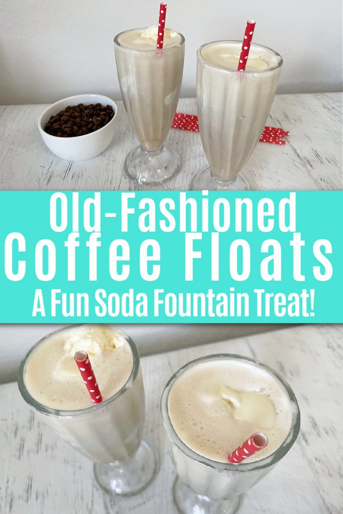 collage of photos of coffee floats