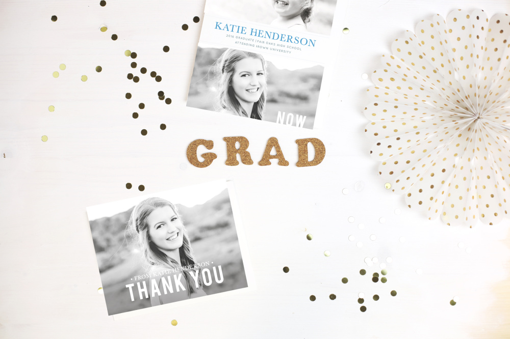 graduation announcement and thank you card