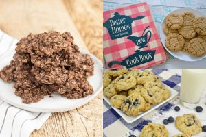 vintage cookie recipes collage