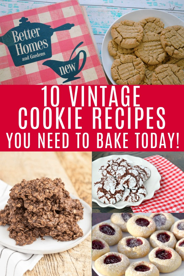 collage of vintage cookie recipes