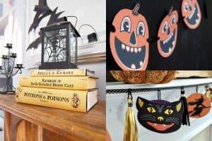 collage of vintage halloween printables