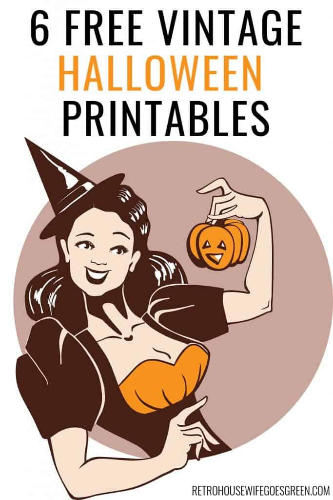 pin-up style witch holding a jack-o-lantern